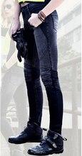newest  UglyBROS JUKE women jeans Black fabric is riding jeans Mesh motorcycle jeans in summer women pants  jeans