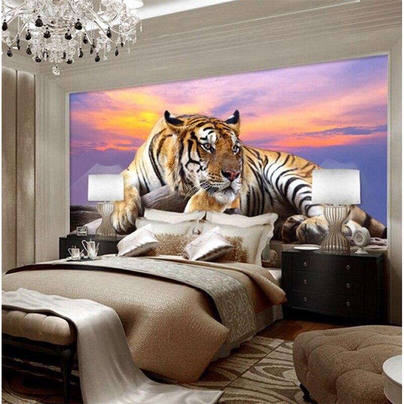 Wellyu пользовательские обои фото тигр животные обои 3d Большая фреска спальня гостиная диван ТВ фон Настенная роспись tapety