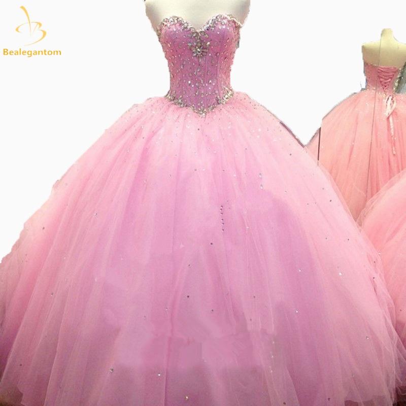 Bealegantom  2019 Ball Gown Quinceanera Dresses Beaded Sweet 16 Dress For 15 Years Vestidos De 15 Anos QA1212 свитшот sweet years sweet years sw012emglfs7