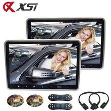 XST-télécommande de jeu 32 bits   2 pièces, 10.1 pouces 1024x600, appuie-tête de voiture, lecteur DVD, USB/SD/HDMI/IR/FM TFT, bouton tactile LCD