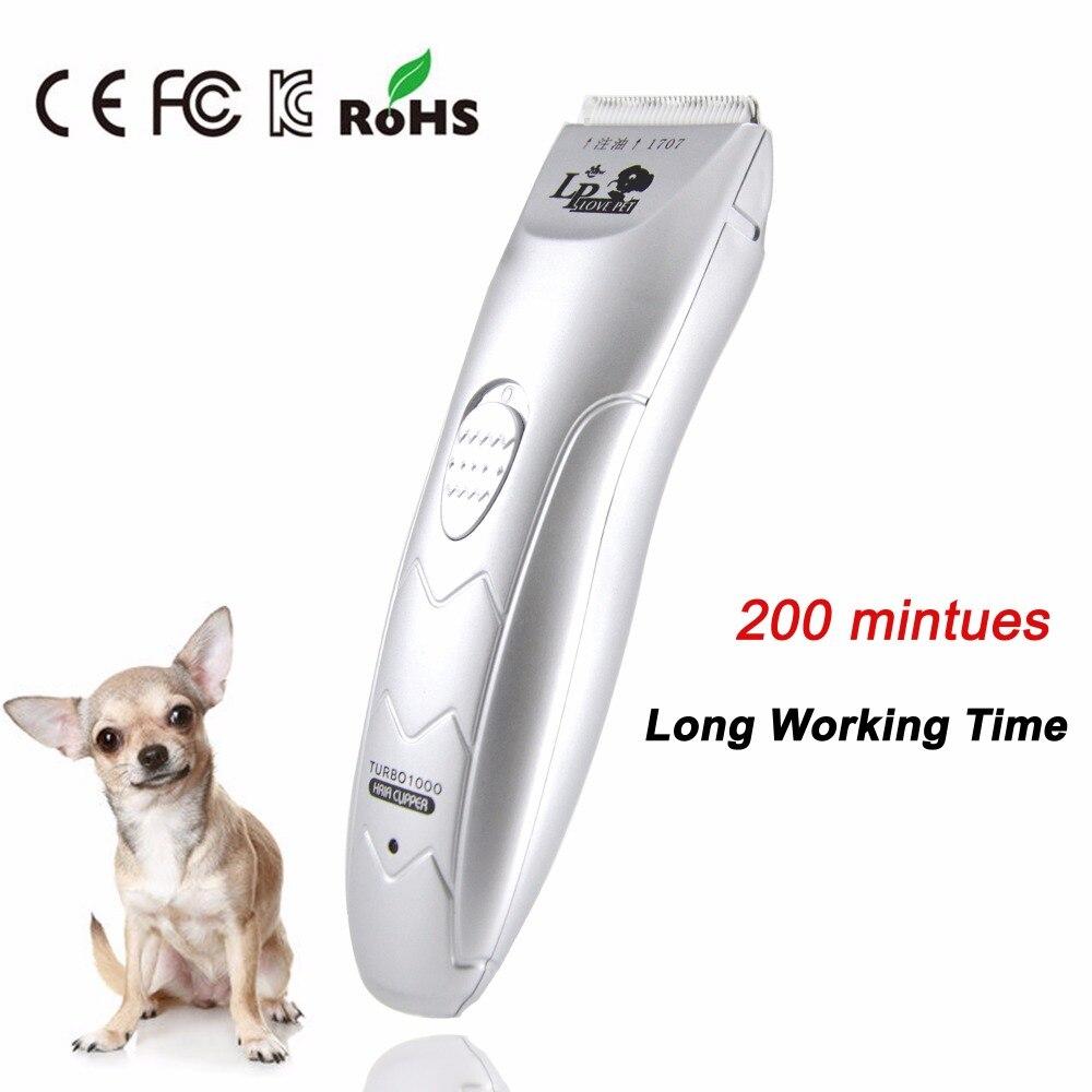 Cortadora de pelo profesional recargable para perros, cortadora de pelo para perros y mascotas, cortadora de pelo afilada para gatos domésticos, cuchillas de cerámica, afeitadora para reparación de cabello