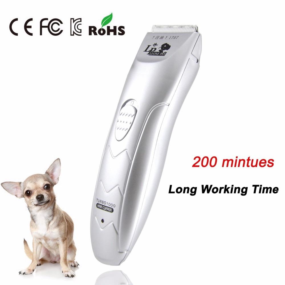 Profissional recarregável cão hairtrimmer pet cão clippers pet gatos afiado corte de cabelo lâminas cerâmicas reparo do cabelo barbeador