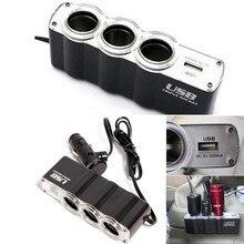 Chargeur USB 12V / 24V/24V   1PC, chargeur de voiture, alimentation et prise dalimentation, prolongateur de cigare de voiture, 3 prises, sortie noir