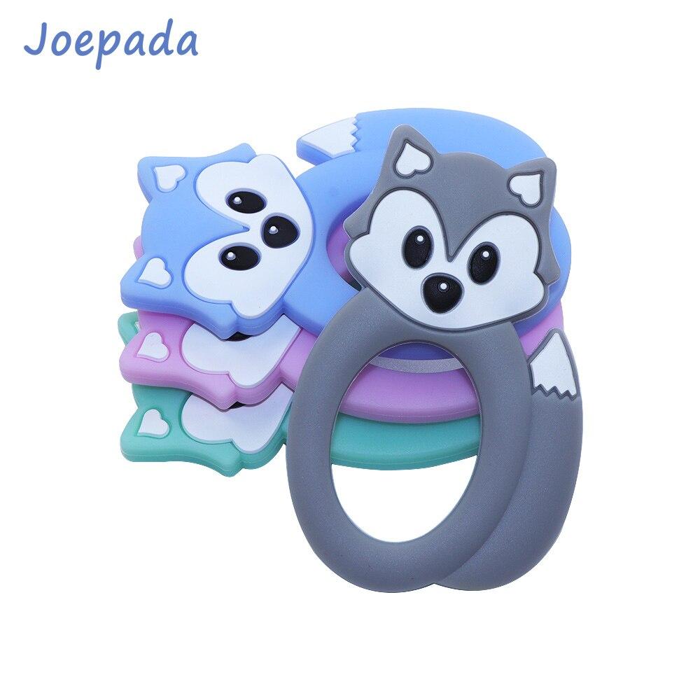 Joepada Fox Baby Teether Cute Animal Safe Silicone Chewing Teething Toys DIY Necklace BPA Free Beads
