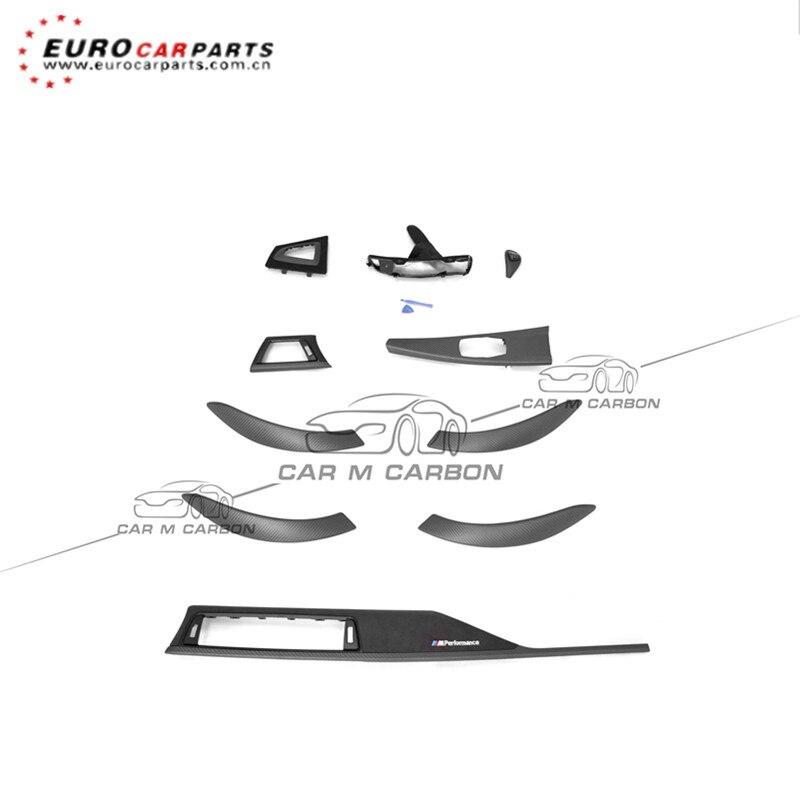 De fibra de carbono de la puerta de coche embellecedor para reposabrazos para S 3S F30/31/35/32/F34/F36/GT3/4S LHD MP de fibra de carbono seco interior trim