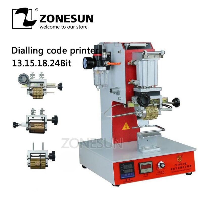 ZONESUN Alta Velocidade Portátil máquina Pneumática Marcação LOGOTIPO Impressora de Código