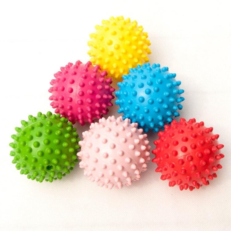 6 pçs/lote Bebê mini pequeno massagem bola de toque da mão do bebê agarrar bolas de brinquedo para crianças brinquedos educativos brinquedo bola rastreamento para As Crianças