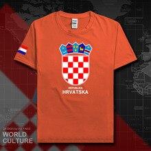 Croácia hrvatska croata camiseta masculina 2018 camiseta nação tshirt 100% algodão camiseta roupas t país sporting hrv croats 20