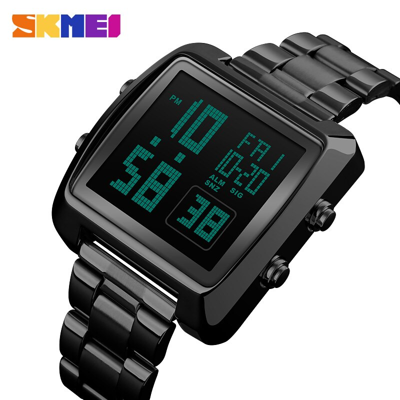SKMEI Digital Men Watch Outdoor Sports Watch Countdown LED Display Mens Watch Fashion Casual Relogio Masculino Saati 1369