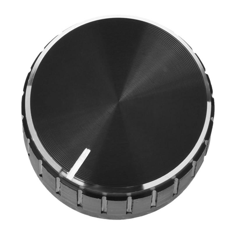 Hot Black Aluminum Alloy Volume Control Amplifier Knob Wheel 3 x 1.7cm (D*H) Bass Tone Knob Potentionmeter Knobs Cap