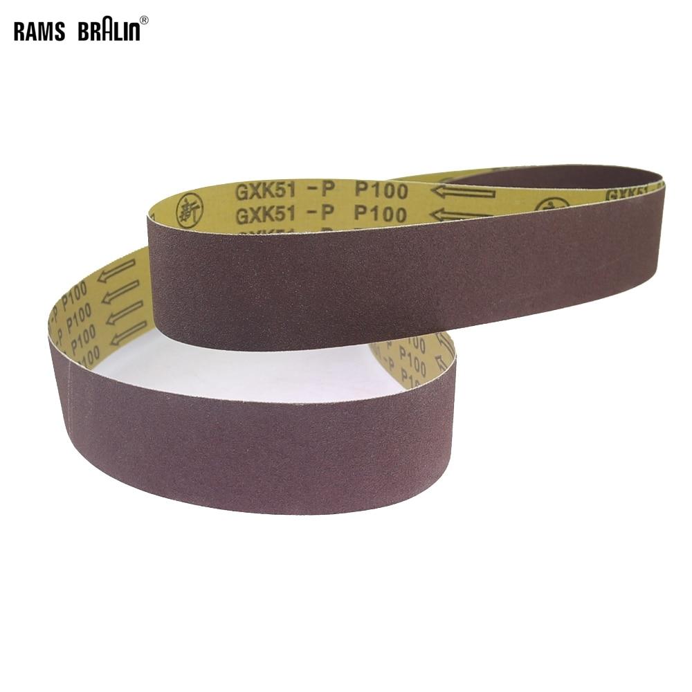"""1 stuk 48 """"/ 63"""" / 72 """"* 2"""" schuurband A / O voor accessoires voor het polijsten van metalen bandslijpmachines"""
