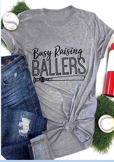 Camiseta divertida Harajuku de béisbol con estampado de murciélago, divertida camiseta informal de moda estética gris para chica