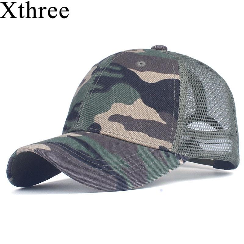 Xthree camouflage baseball cap mesh cap for men women  snapback Hat for men bone gorra  casquette fashion hat