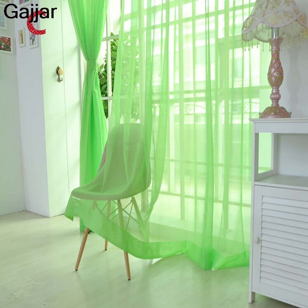 Gajjar, cortina de ventana de tul puro para puerta, cortina, Panel transparente, bufanda, cenefas, malla ligera microtransparente, transmisión 100x200