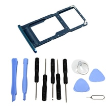 NEW SIM & SD Card Tray Micro Card Holder Slot For Huawei Psmart 2019 (Blue) With Tools