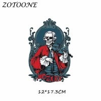 parches iron on patches skull punk heat transfer patches for clothing t shirt beaded applique clothes diy accessory decoration