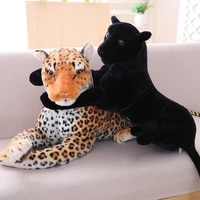 1pc 30 90cm high quality simulation leopard panther plush toy lifelike stuffed animal classic toys doll for children best gift