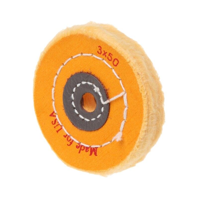 Pulidora de rueda de pulido de tela de 3 pulgadas pulidora trituradora de joyas almohadilla artesanal