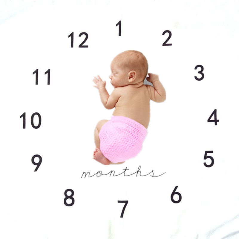 100 * 100 cm printed newborn photography background blanket infant growth record carpet carpet letters