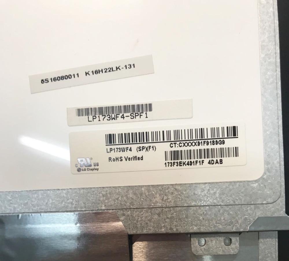 "Ips matriz para portátil 17.3 ""tela lcd led para LP173WF4-SPF1 lp173wf4 (sp) (f1) 1920x1080 fhd display lp173wf4 spf1 painel fosco"