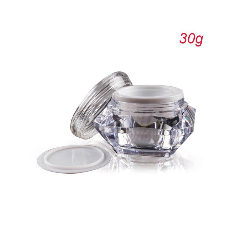 Nuevo frasco de crema con forma de diamante de 50 piezas, frasco de plástico de 30g, 1 oz envase cosmético al por mayor