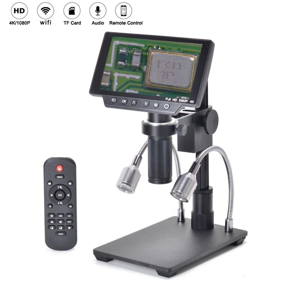 Microscope électronique à affichage numérique de Maintenance industrielle 16MP 4 K 1080 P 60FPS HDMI USB et WIFI 150X lentille c-mount