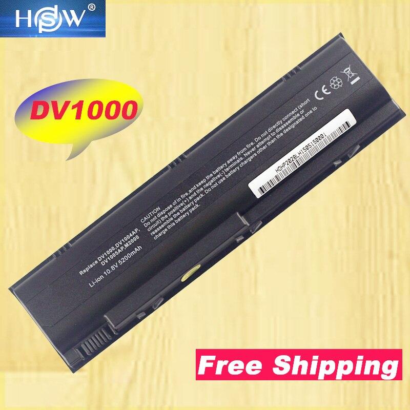 Batería de ordenador portátil HSW para HP Pavilion DV1000 DV4000 DV4200 DV5000...