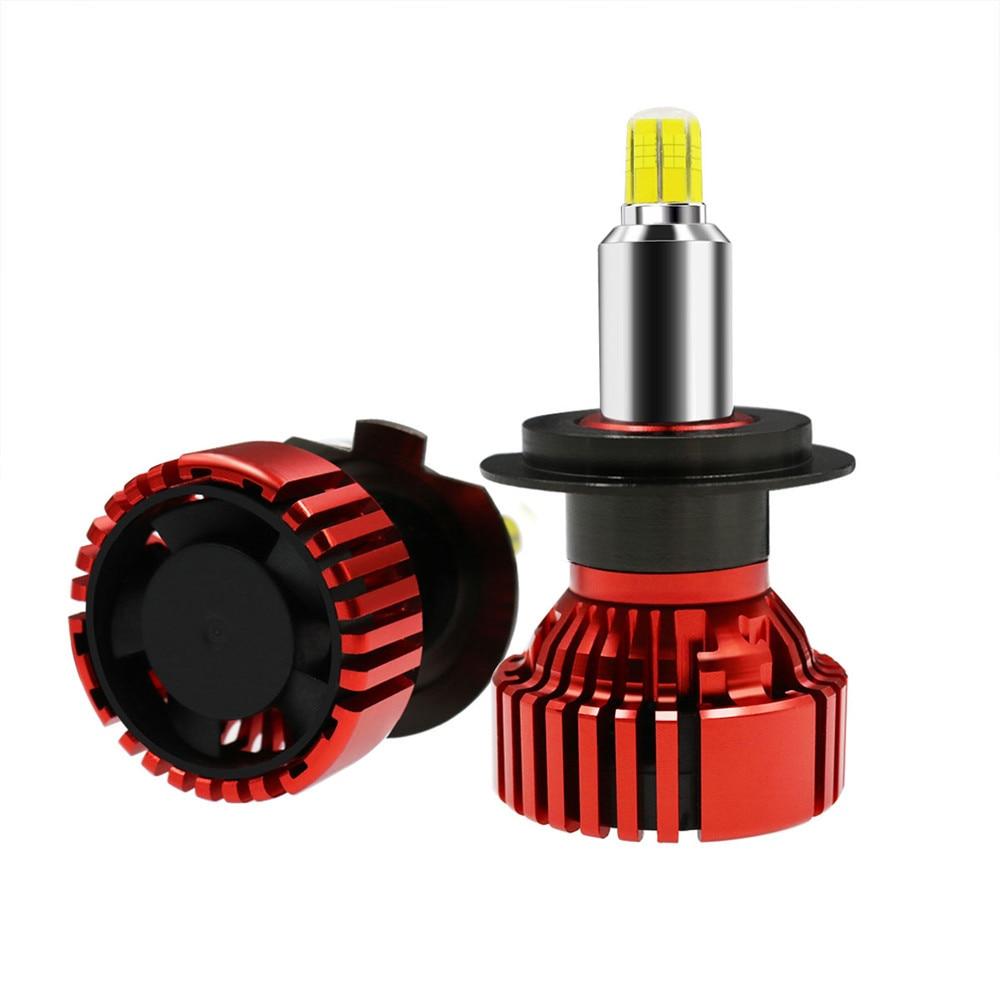 H7 Mini Size LED Headlight Headlamps Front Bulbs H8/H9/H11 9005/HB3 9006/HB4 9012/HIR2 35W 70W 14000lm 6000K White Low Beam Fog