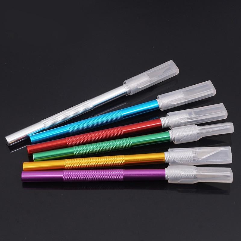 1 set 6 lame coltelli artigianali per incisione bisturi in metallo - Utensili manuali - Fotografia 3