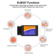 Scanner WIFI OBD2 universel ELM327 V 1.5   Pour Android/IOS Auto, outil de balayage OBDII OBD 2 ODB II ELM327 V1.5 WI-FI ODB2 Diagnostic de voiture