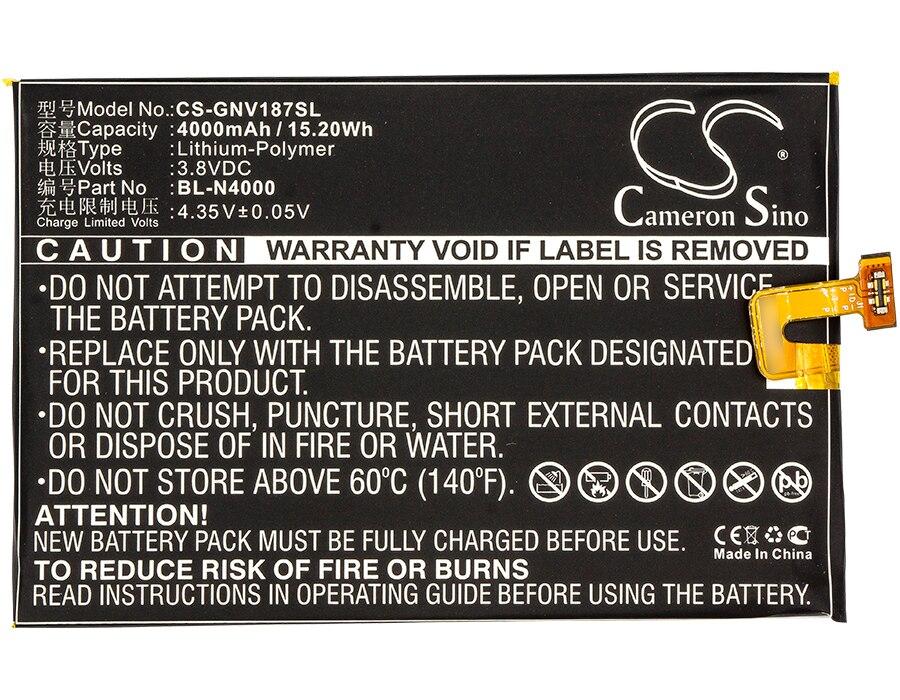 Cameron Sino 4000mAh batería de la batería BL-N4000 para GIONEE GN5001... GN5001L... GN5001S... V187 para BLU X LTE E0010UU