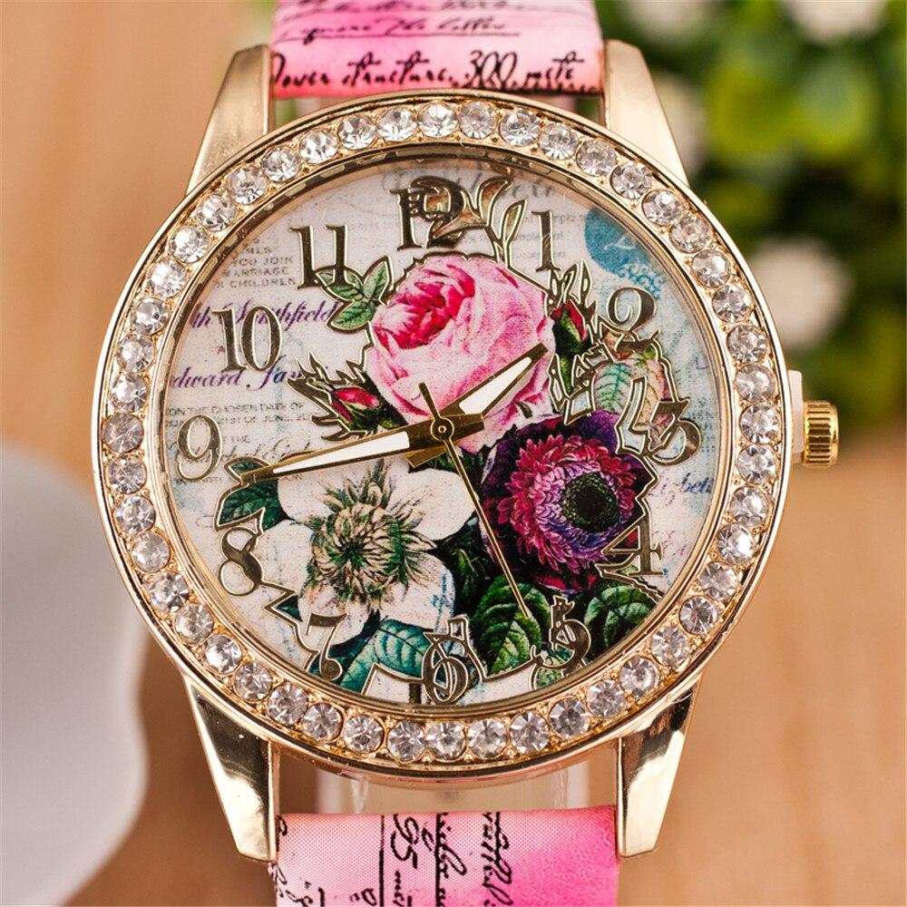 Новые модные кварцевые часы с китайским цветком, повседневные женские часы-браслет, часы Relogio Feminino, часы для рождественского подарка