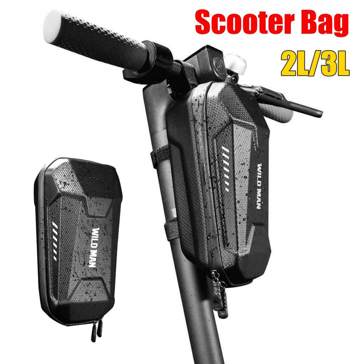 Bolsa para manillar de patinete eléctrico, de 2l/3l, EVA, con carcasa dura para bicicleta plegable Xiaomi M365 ES1 2 3 4