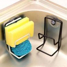 Mutfak vakum ağzı altlığı fırçası sünger lavabo havlu askısı yıkama siyah tutucu Dropshipping Feb28