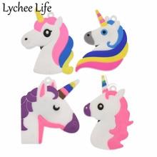 4 Uds dibujos animados unicornio nevera pegatina magnética Linda forma Animal imán de nevera DIY hogar cocina Decoración