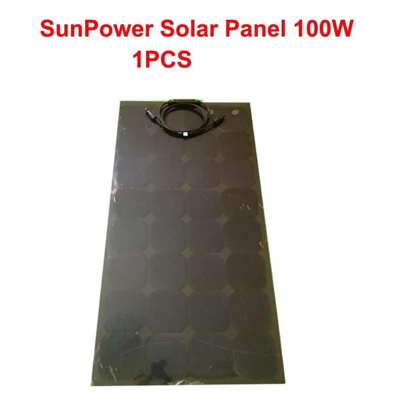 Sunpower Black Flexible Solar panel Solar cell 12V battery car charger system kit 100w/200w/300w/400w