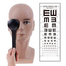 1 قطعة شفاف/أسود يده أداة قياس البصريات العين occloder كتلة لوحة لاختبار الرؤية امتحان البصر