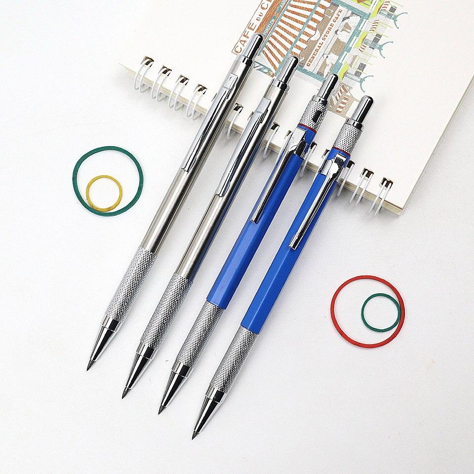 Lápis mecânico 2.0mm 2b de alta qualidade plástico e metal lápis automático desenho esboço para a escola escritório artigos de papelaria suprimentos