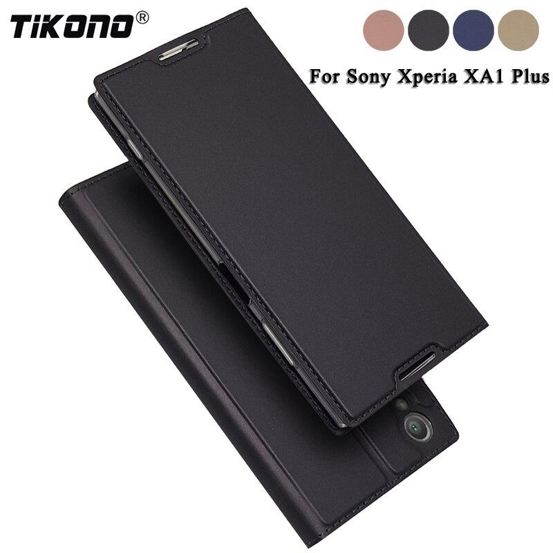 Funda TIKONO para Sony Xperia XA1 Plus XA1Plus 5,5 de cuero de lujo con tapa cubierta de libro fundas de teléfono para Sony Xperia XA1 2 Xper XA1 +