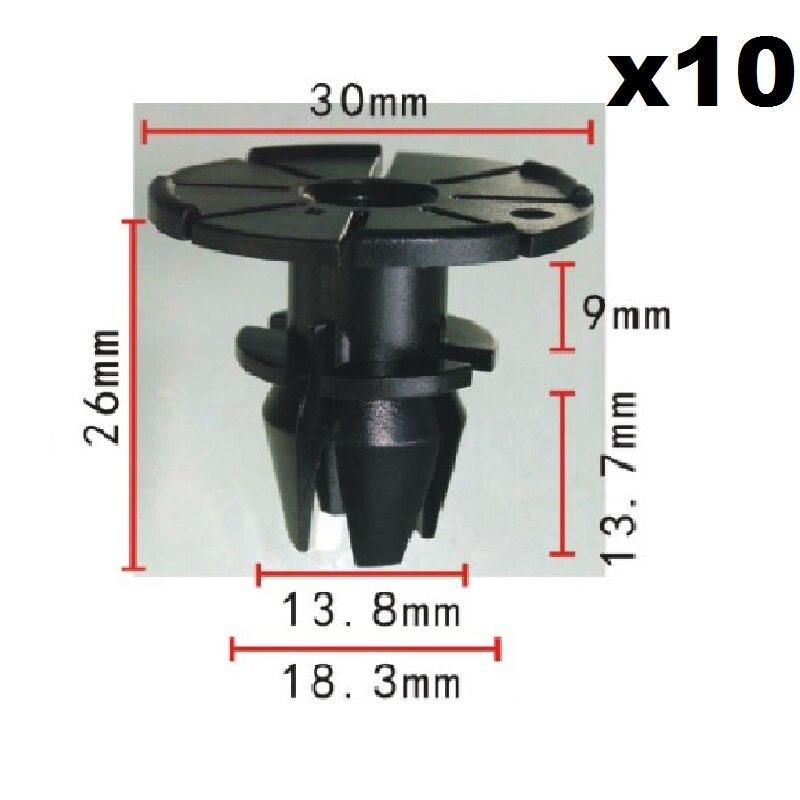 10 X Rocker Panel-Moulding Clip für BMW Passt zu 14mm HD. 30mm BL. 14mm 51717066229