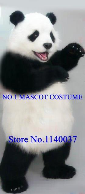 Disfraz de mascota Panda de peluche realista de alta calidad adulto encantador Tema de Panda dibujos animados mascota de Carnaval disfraces Kits de vestidos de lujo