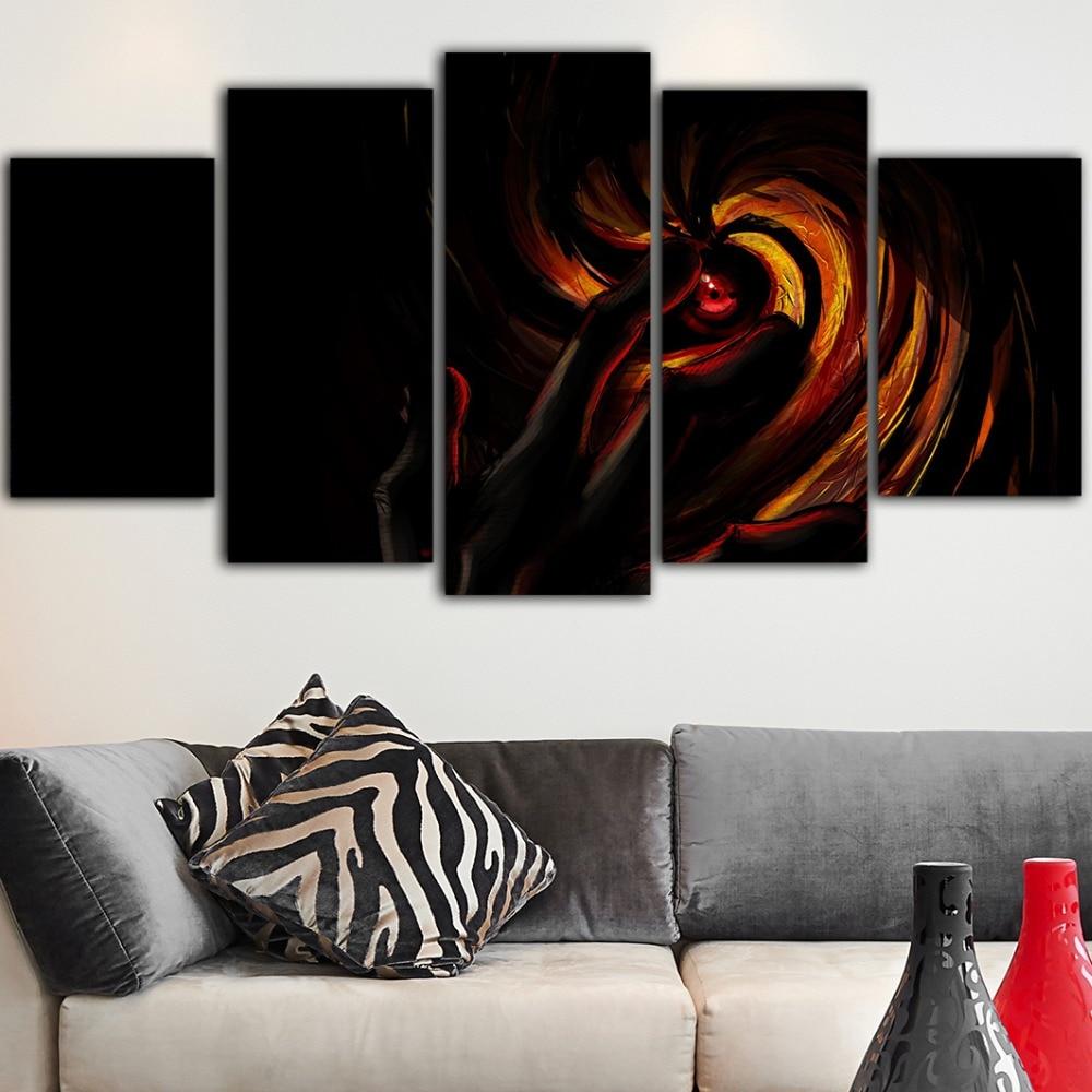 5 piezas lienzo Pintura caliente Anime Naruto Cuadros decoración Dormitorio carteles e impresiones Tableau Peinture Sur Toile Pintura