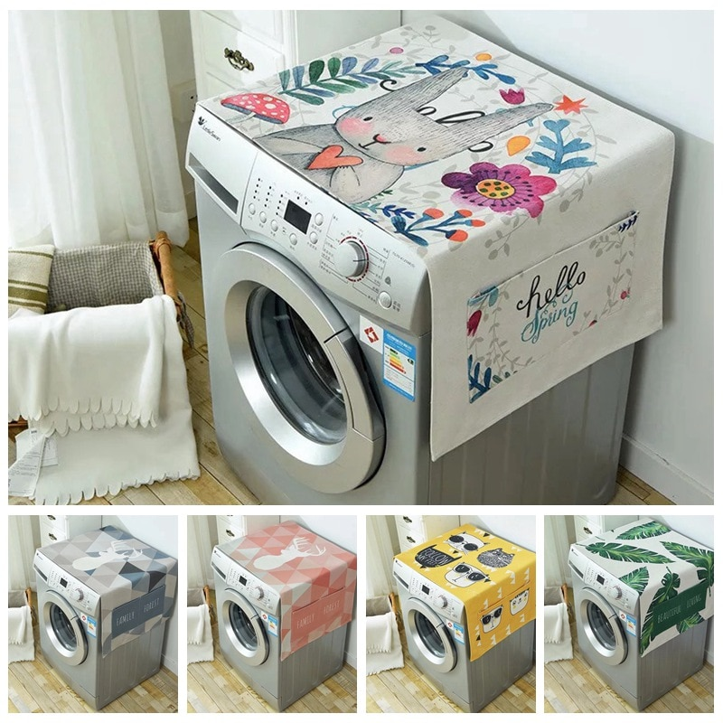 AliExpress - Drum Washing Machine Mini Cover Dust Cover Waterproof Dust Cover Front Loading Oven Dust Cover Refrigerator Dust Pocket
