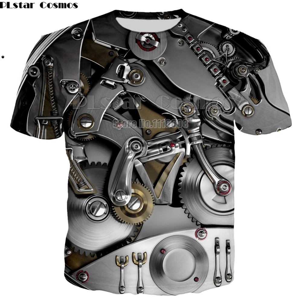Nouveau T-shirt Punk vêtements cool vêtements mécanique t-shirt hauts femmes hommes t-shirts drôle 3d T-shirt unisexe t-shirt impression grande taille