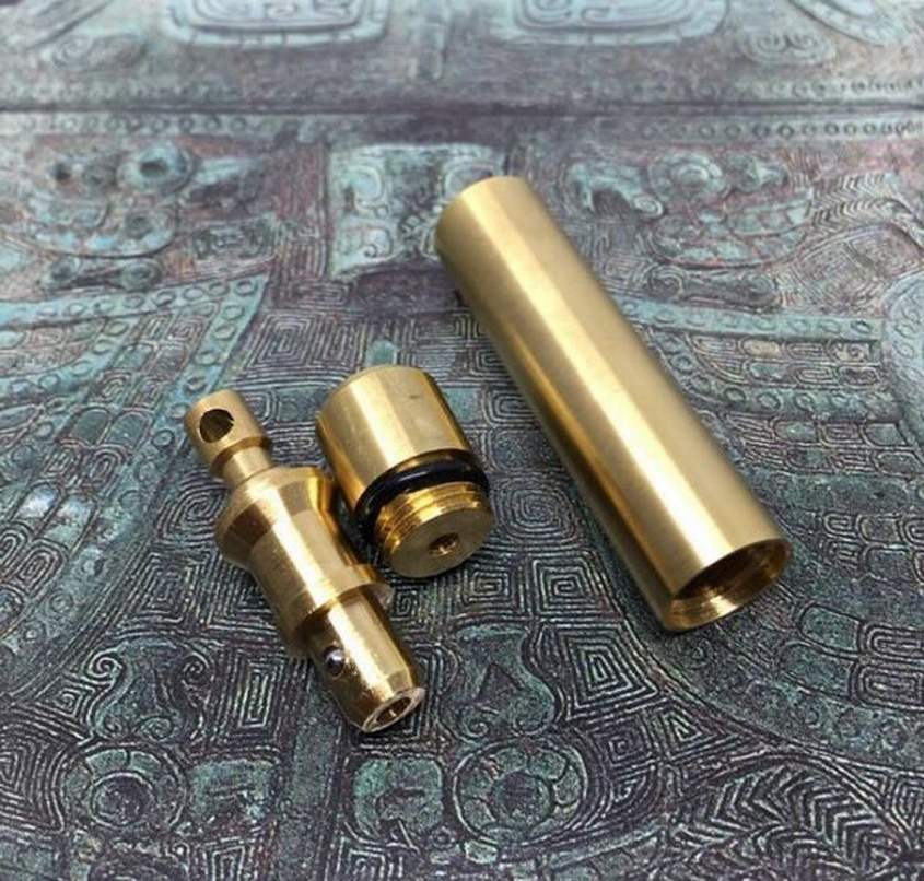 Edc rápida latão selado cabine de latão ao ar livre à prova ddiy água bin diy cobre latas rápida cobre chaveiro