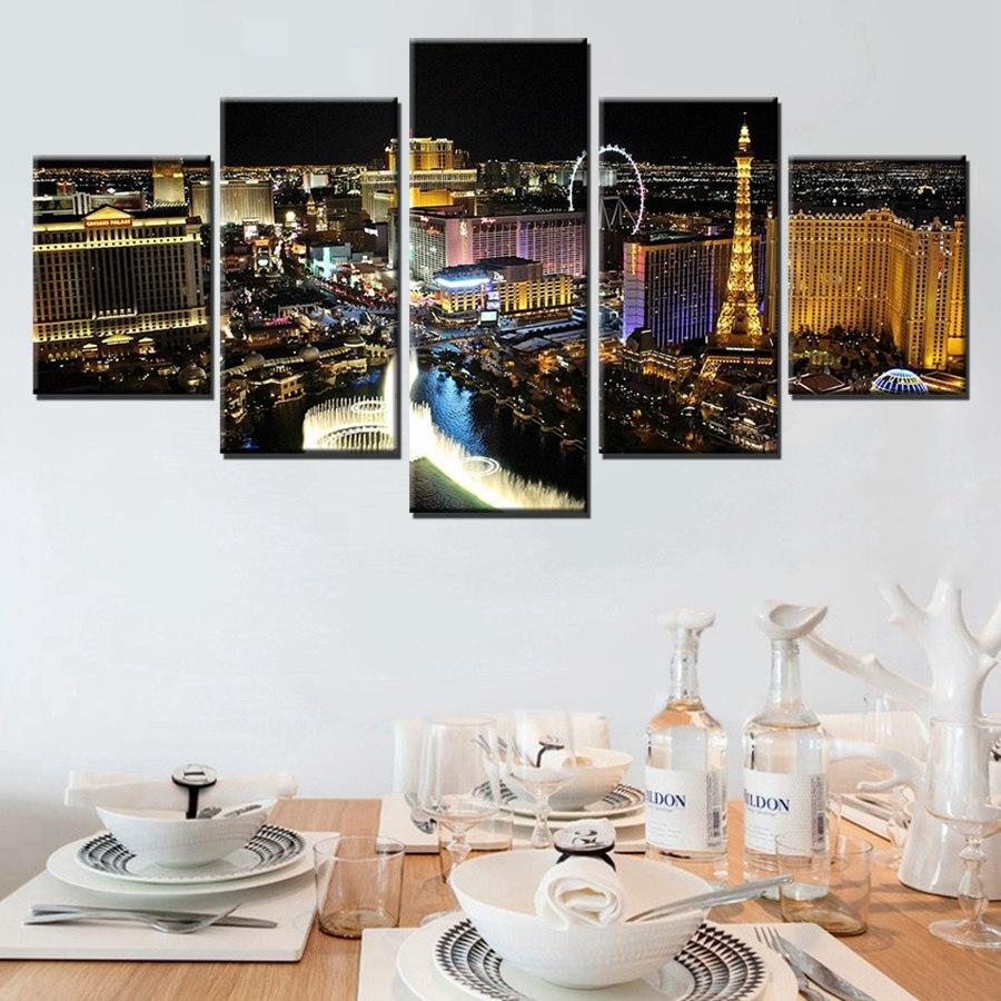 Cuadro sobre lienzo de alta calidad con estampado de arte en lienzo de pared grande panorámica Victoria Tower London Skyline por la noche