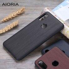 Coque design en bois pour Xiaomi Redmi Note 5 souple en silicone et PC et bois housse en cuir pour coque fundas Redmi Note 5 pro