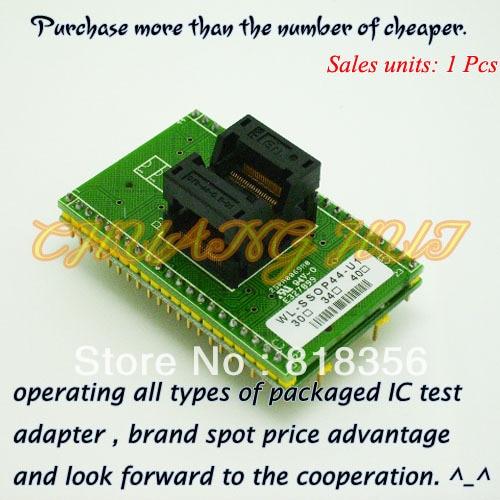 Adaptador WL-SSOP44-U1 para adaptador de programador Wellon adaptador TSSOP44 toma de prueba IC/enchufe IC