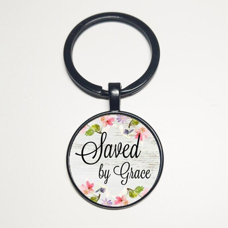 Par GRACE collier, pendentif à breloque, son cadeau, fidèle porte-clés à breloques, charme guerrier, survivant, foi collier salut