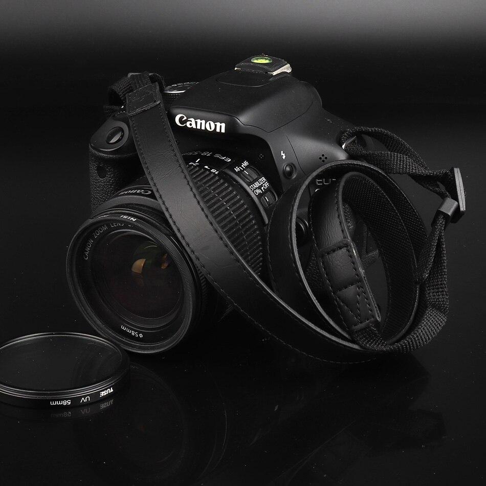 Cuero de la PU correa de la cámara de hombro cinturón de cuello para Nikon B500 B700 D3400 D3200 D3300 J5 J4 P7800 P7700 L840 L830 l340 L330 L120 L110